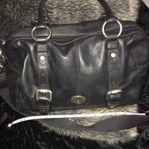 Black leather fossil bag. Great condition.